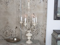 Candelabre chandelier bougeoir 7 lumières bougies romantique shabby chic