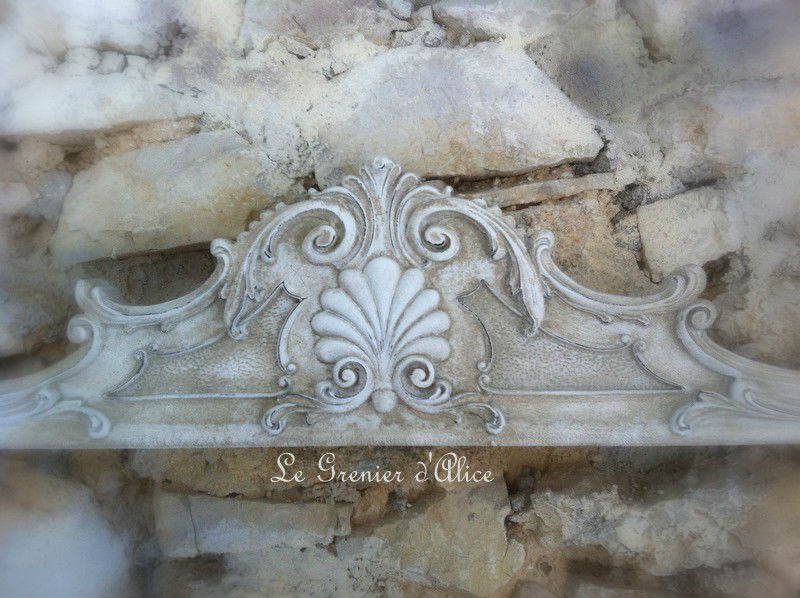 Fronton r sine haut de porte deco charme shabby chic et romantique french decor boutique www - Decoratie de charme chic ...