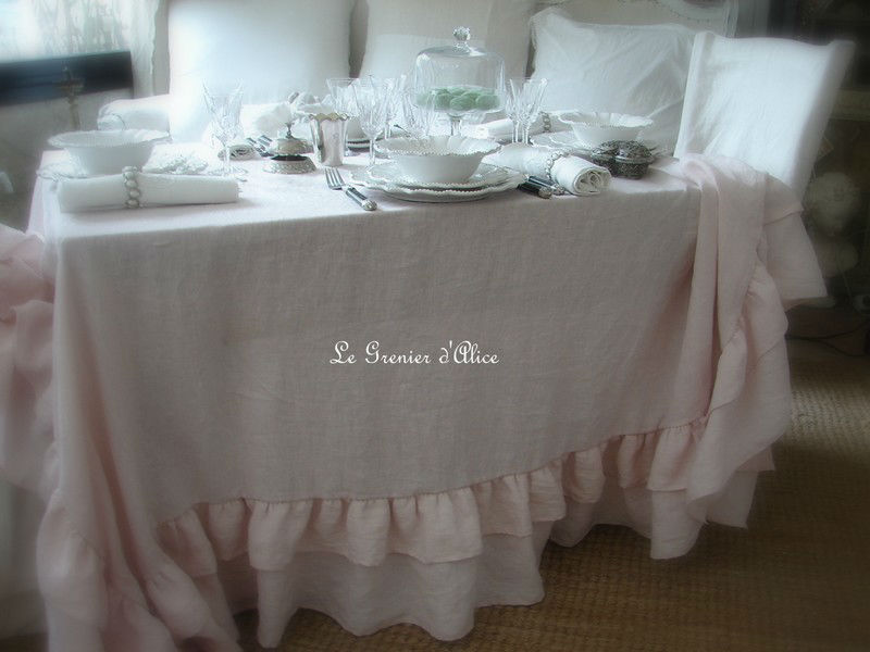 nappe volant e romantique shabby chic boutique www. Black Bedroom Furniture Sets. Home Design Ideas