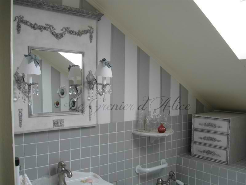 Galerie photos clients decoration de charme shabby chic Salle de bain romantique photos