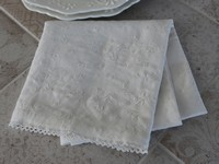 Torchon de cuisine broderie anglaise shabby chic